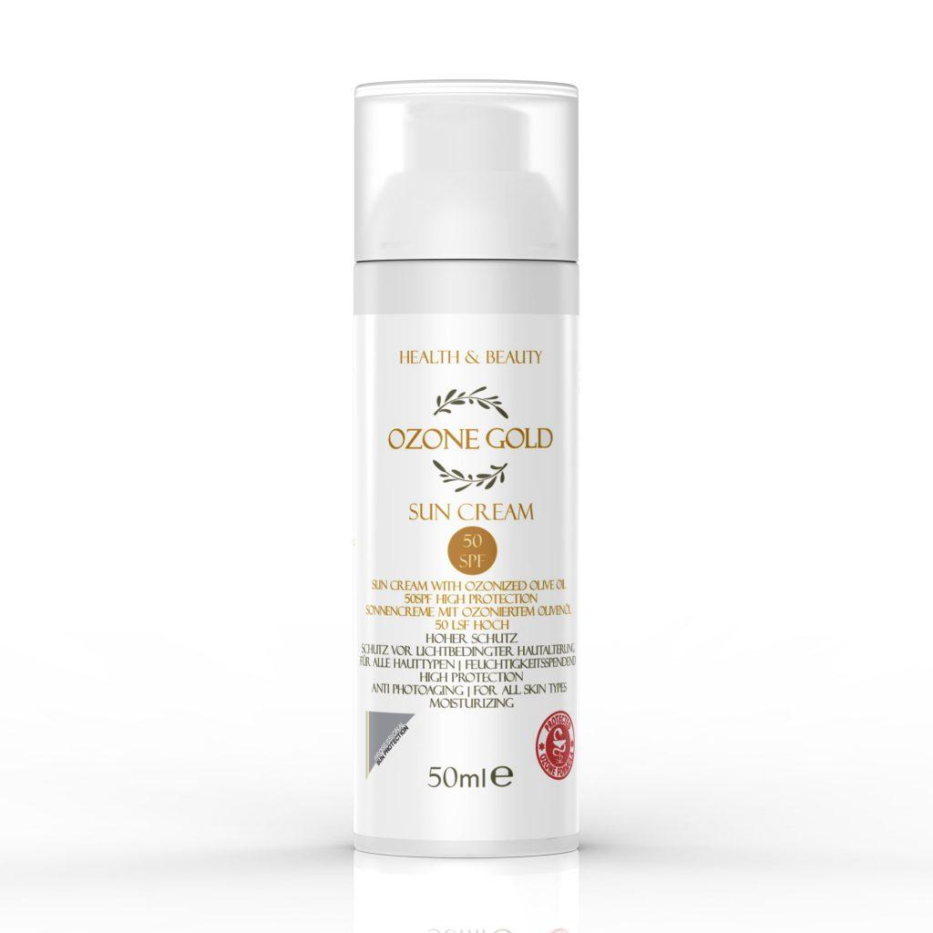 Sun cream stearic acid sunscreen moisturizer Sun protection ozone gold ozone